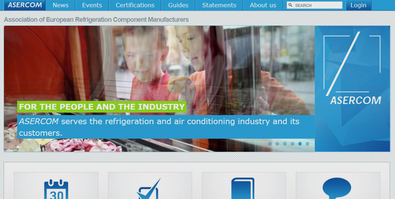 Asercom Website slideshow