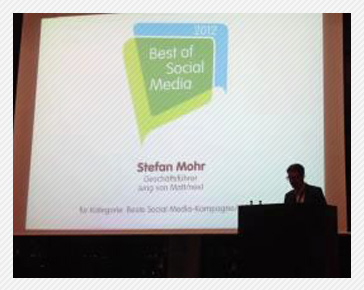 F3 gewinnt Best of Social Media Award 2012